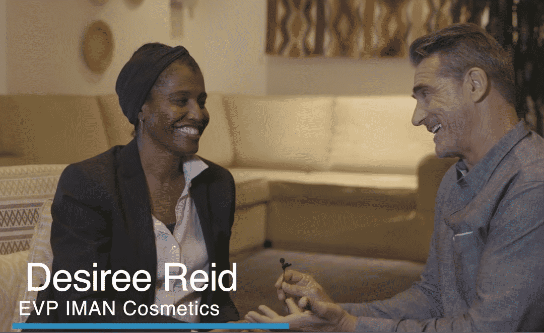 Desiree Reid of Iman Cosmetics, Interview by Ken Kerry