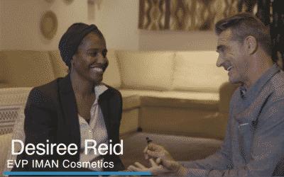 Desiree Reid of Iman Cosmetics, Interview by Ken Kerry
