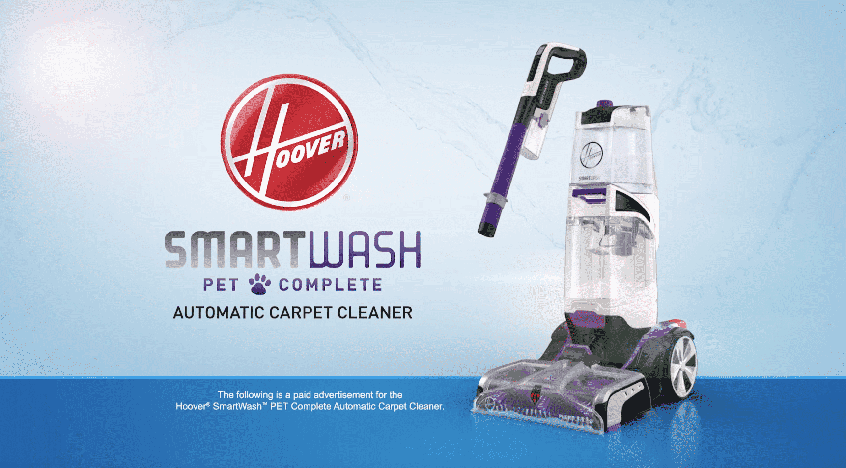 Hoover SmartWash Pet Complete – Infomercial, Long-Form