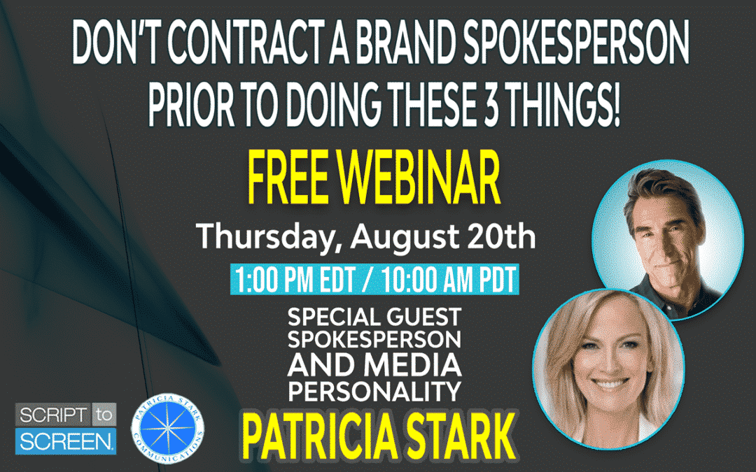 Don't Contract A Brand Spokesperson Prior to Doing These 3 Things Webinar