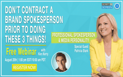 Watch the Patricia Stark Webinar – Don't Contract A Brand Spokesperson Prior to Doing These 3 Things