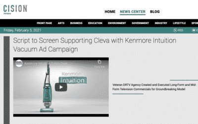 Script to Screen Supporting Cleva with Kenmore Intuition Vacuum Ad Campaign